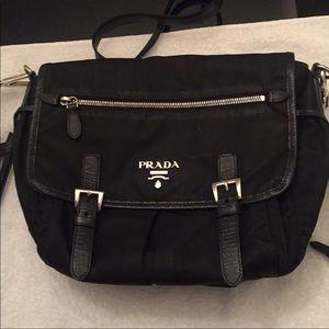 Prada Black Nylon llightweights messenger Bag